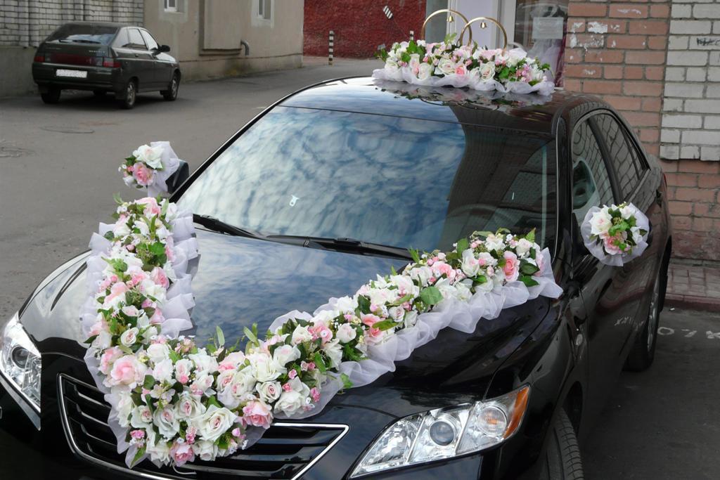 Оформление свадебного кортежа своими руками 65