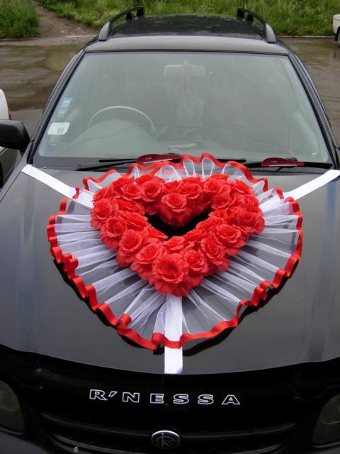 кольца на машину свадебные своими руками