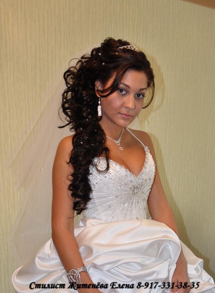 свадебные прически с искусственными