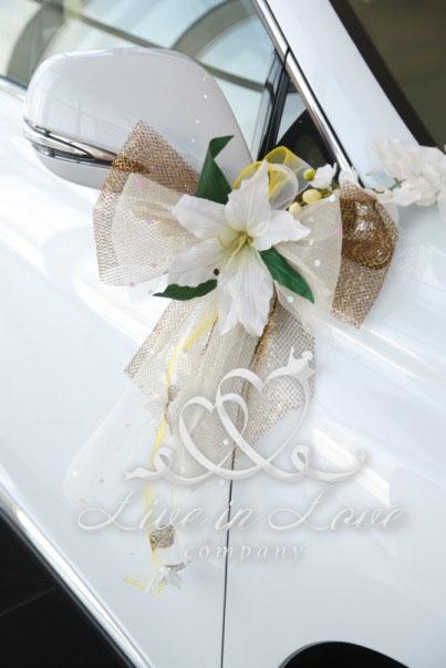 Банты на зеркала на свадьбу