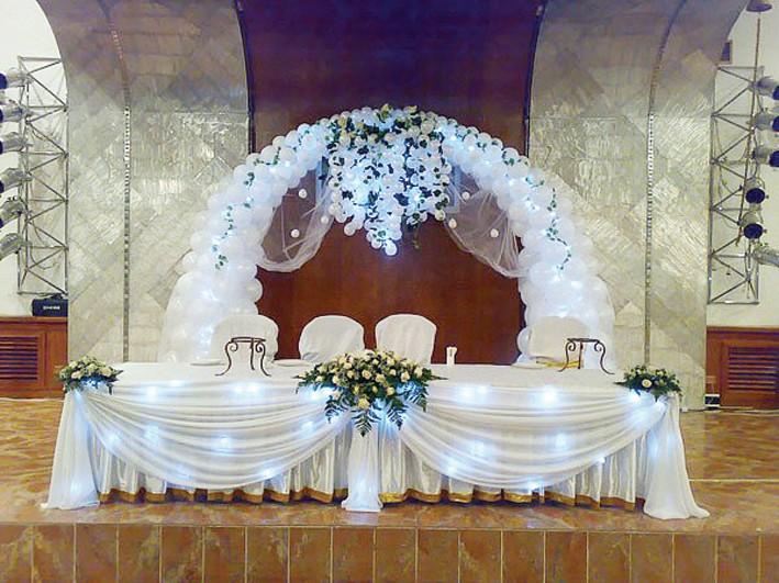 Оформление свадебного зала своим руками